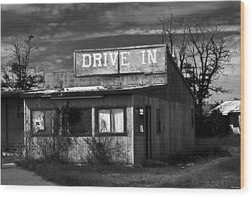 Better Days - An Old Drive-in Wood Print