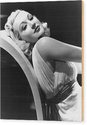Betty Grable In The 1930s Wood Print by Everett