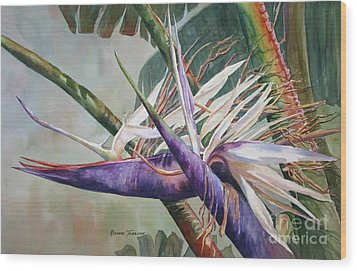 Betty's Bird - Bird Of Paradise Wood Print by Roxanne Tobaison