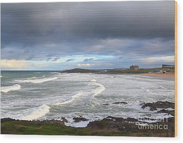 Wood Print featuring the photograph Between Cornish Storms 1 by Nicholas Burningham