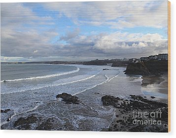 Wood Print featuring the photograph Between Cornish Storms 2 by Nicholas Burningham
