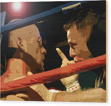 Between Rounds Wood Print by David Lee Thompson