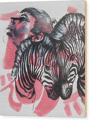 Between Stripes Wood Print