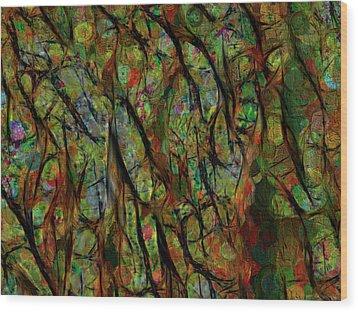 Between The Lines Wood Print
