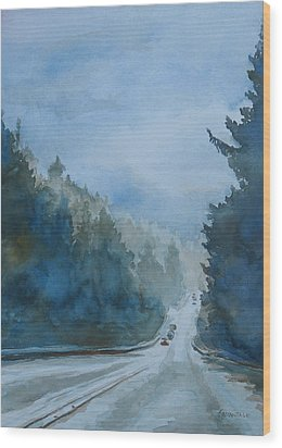 Between The Showers On Hwy 101 Wood Print by Jenny Armitage