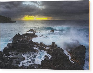Wood Print featuring the photograph Between Two Storms by Ryan Manuel