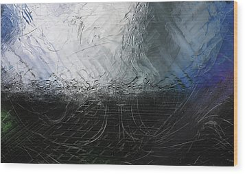 Wood Print featuring the digital art Between Us, This Melancholy Sea by Wendy J St Christopher