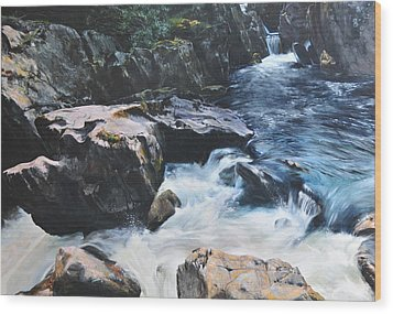 Betws-y-coed Waterfall Wood Print
