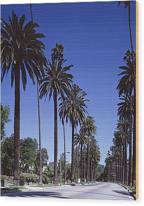Beverly Hills And The Bel-air Section Wood Print by Everett