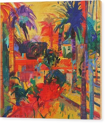 Beverly Hills Wood Print by Peter Graham