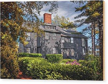 Bewitching Salem Wood Print by Carol Japp