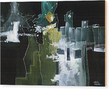 Beyond Horizons Wood Print by Anil Nene