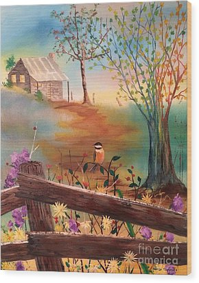 Wood Print featuring the painting Beyond The Gate by Denise Tomasura