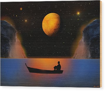 Wood Print featuring the photograph Beyond The Stars by Bernd Hau