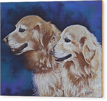 Bff Best Friends Forever Wood Print by Tracy L Teeter