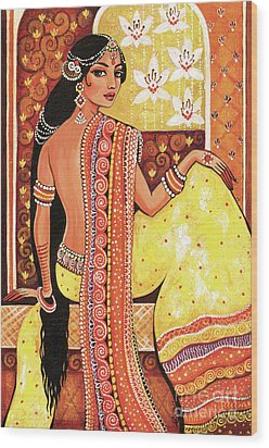 Bharat Wood Print by Eva Campbell