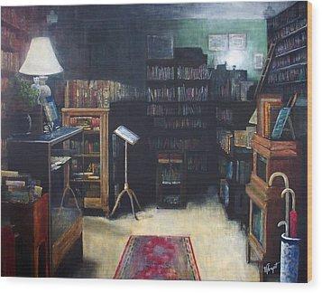 Bibliopoly Wood Print by Victoria Heryet