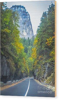 Bicaz Canyon Wood Print