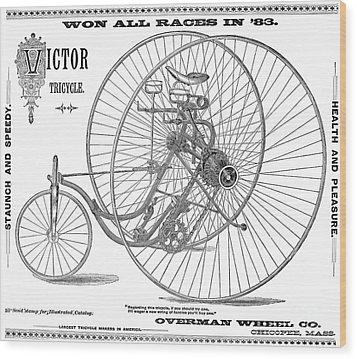 Bicycle, 1884 Wood Print by Granger
