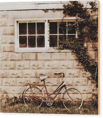 Bicycle Wood Print by Julie Hamilton