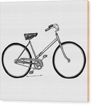 Bicycle Wood Print by Karl Addison