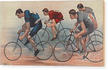 Wood Print featuring the photograph Bicycle Lithos Ad 1896nt by Padre Art