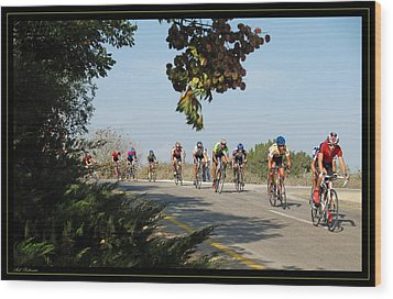 Bicycle Race Wood Print by Arik Baltinester