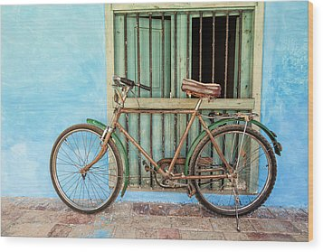 Bicycle, Trinidad Wood Print by Brenda Tharp
