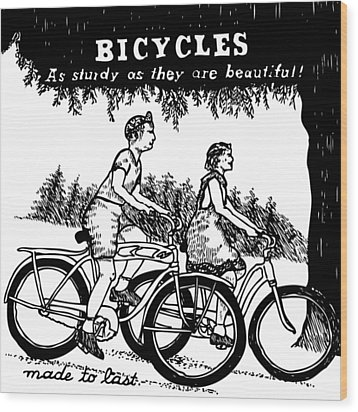 Bicycles - As Sturdy As They Are Beautiful Wood Print by Karl Addison