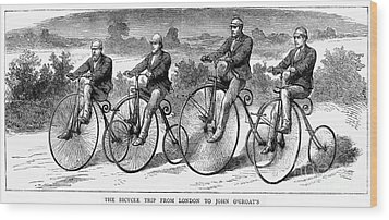 Bicycling, 1873 Wood Print by Granger