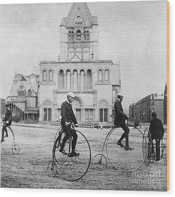 Bicycling, 1880s Wood Print by Granger
