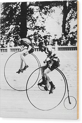 Bicycling Race, C1890 Wood Print by Granger