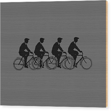 Wood Print featuring the digital art Bicycling T Shirt Design by Bellesouth Studio