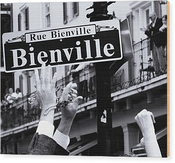 Wood Print featuring the photograph Bienville Street In New Orleans by Ray Devlin