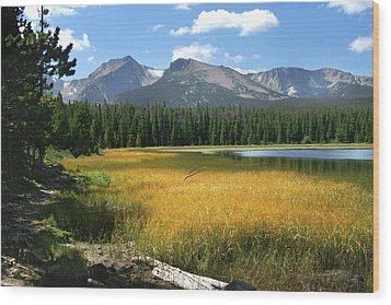 Wood Print featuring the photograph Autumn At Bierstadt Lake by David Chandler