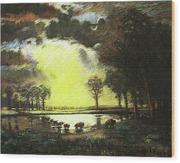 Bierstadt Impression Wood Print by Nils Bifano