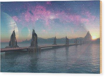 Bifrost Bridge Wood Print