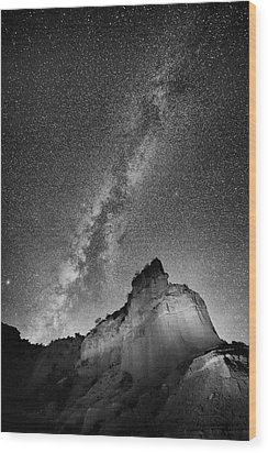 Wood Print featuring the photograph Big And Bright In Black And White by Stephen Stookey