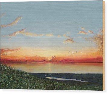 Big Assawoman Bay Wood Print
