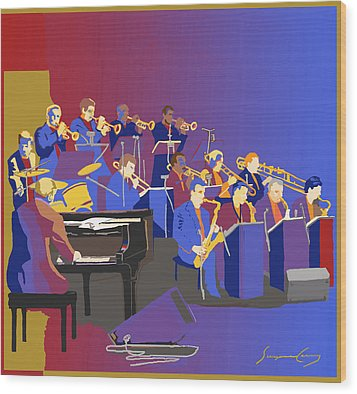 Big Band Wood Print
