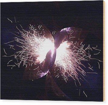 Big Bang Wood Print by Jerry Browning