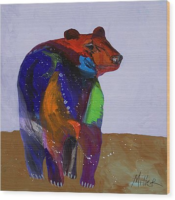 Big Bear Wood Print by Tracy Miller