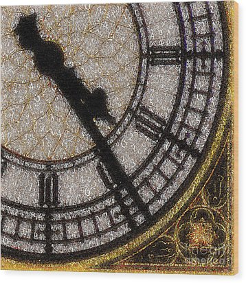 Wood Print featuring the photograph Big Ben Clock Color By Numbers 20161115v2 by Wingsdomain Art and Photography