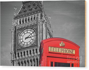 Wood Print featuring the photograph Big Ben by Delphimages Photo Creations