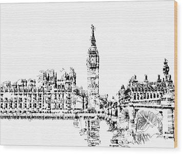 Big Ben Wood Print