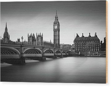 Big Ben Wood Print by Ivo Kerssemakers
