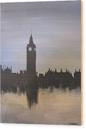 Wood Print featuring the painting Big Ben Of London by Gary Smith