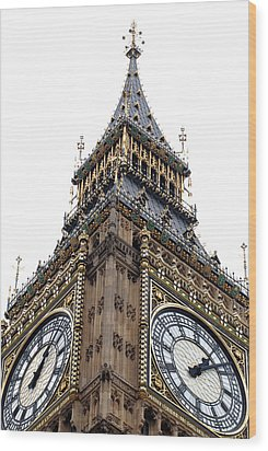 Big Ben Wood Print by Peter Funnell