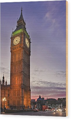 Wood Print featuring the photograph Big Ben Twilight In London by Terri Waters