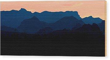 Big Bend Orange Blue Layers Wood Print